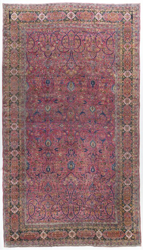 Vintage Persian Semnan Rug Circa 1920.