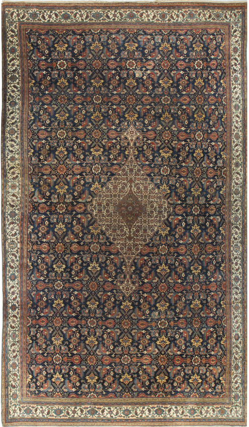 Antique Fine Quality Bibikabad Rug Circa 1900