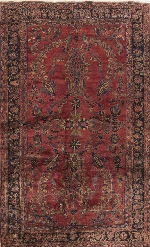 Antique Persian Sarouk Rug Circa 1900