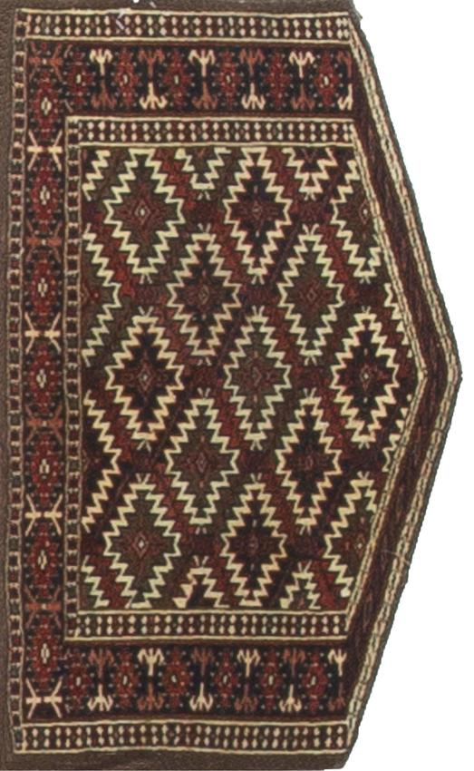 Antique Turkoman Yomut Asmalyk Rug Circa 1890