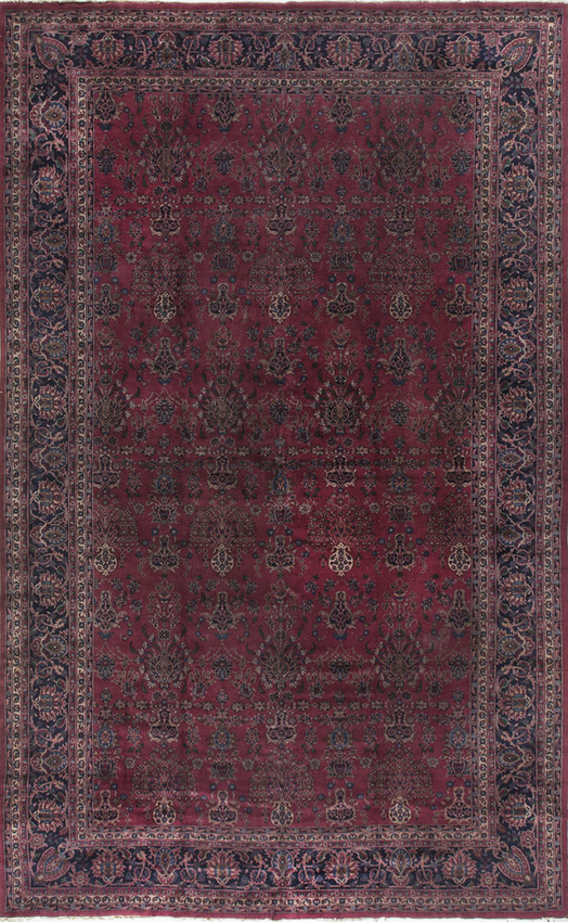 Antique Persian Kashan Rug Circa 1900