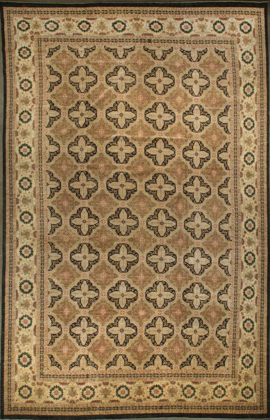 Persian Style Rug.Black/Beige