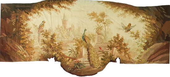 A  French circa 1830 tapestry panel.