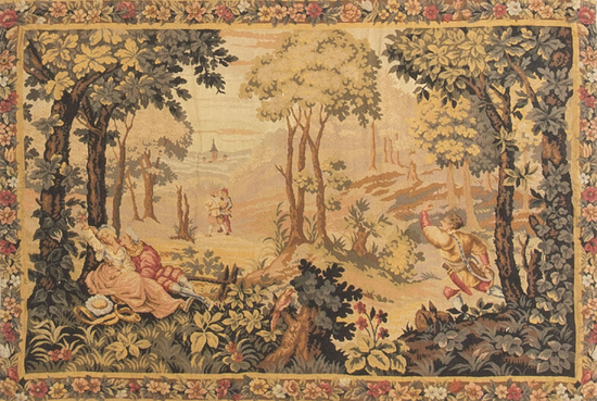 A Handloomed French Tapestry circa 1890.