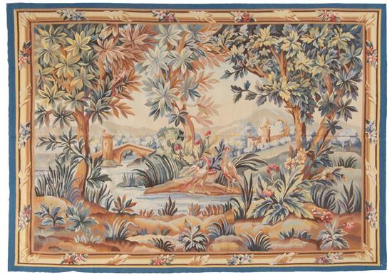 Elegant 18th Century Aubusson Style Tapestry