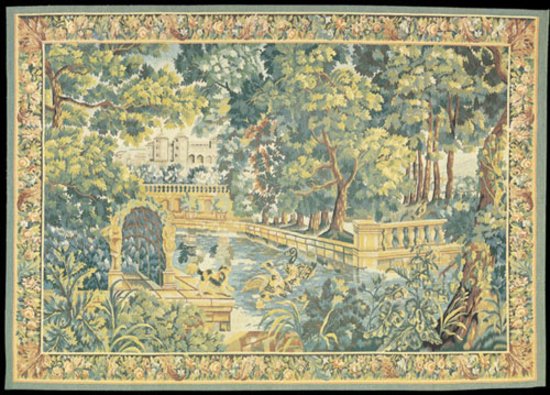Recreation of an 18th century Goblin design Game Park Tapestry