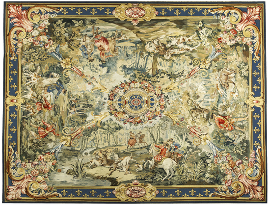 Recreation of an 18th century Flemish Hunting Scene Tapestry