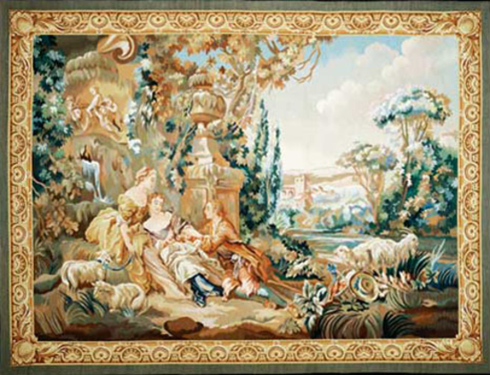 Recreation of an18th century design after a Boucher painting