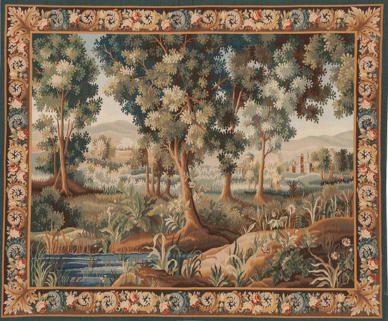 Recreation of a 17th Century Aubusson Design Verdure Tapestry