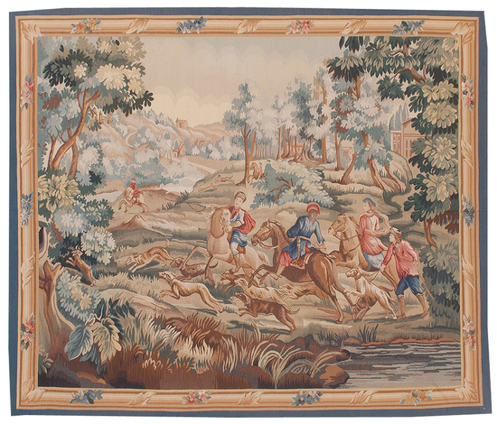 Recreation of an 18th Oudry Painting, Aubusson Design Tapestry