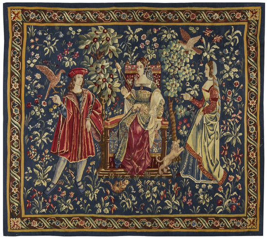 Recreation of a 15th century Gothic Tapestry