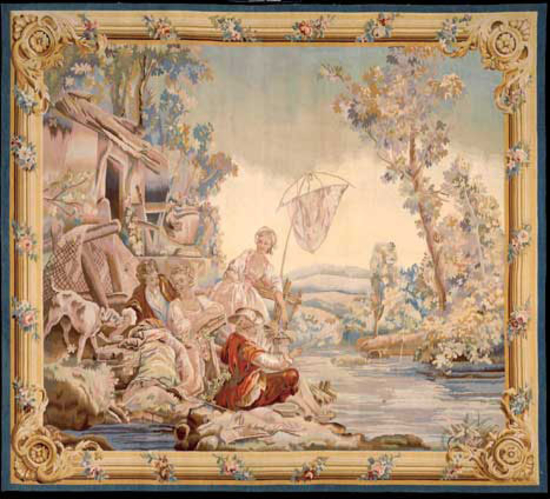 Recreation of an 18th century Romantic design Tapestry