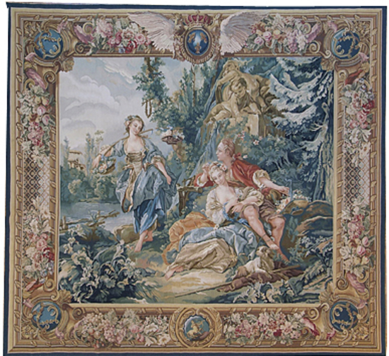 Recreation of an 18th century Boucher design Tapestry