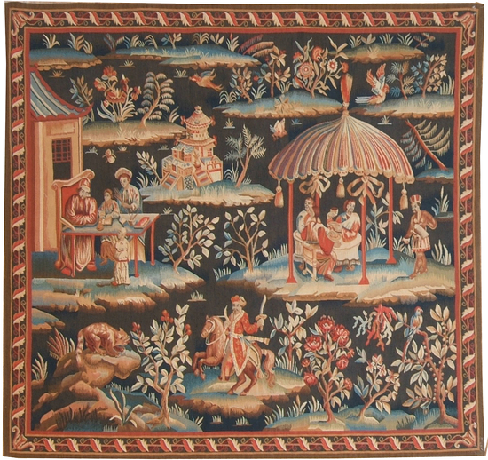 Recreation of an 18th century Brussels Chinoiserie Tapestry