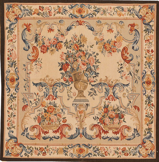 Recreation of a Classic French Floral Tapestry