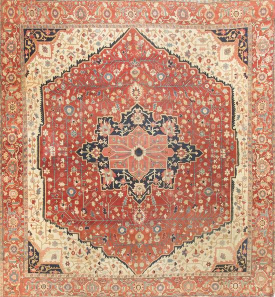 Antique Persian Heriz Serapi Circa 1890