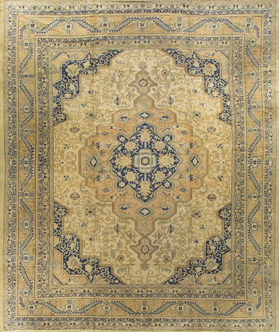Antique Tabriz Rug Circa 1900
