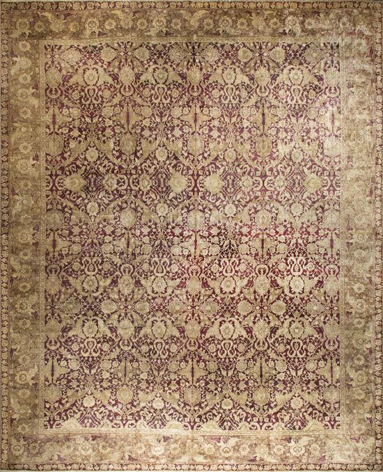 Antique Indian Agra Rug Circa 1880