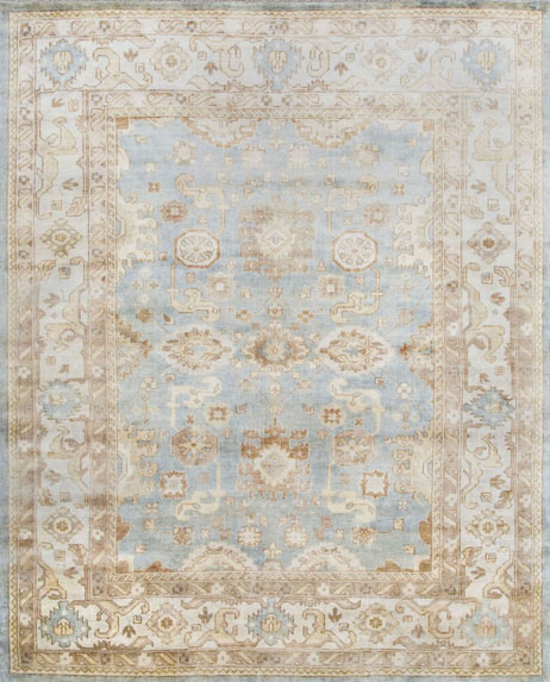 Oushak .Light Blue/Ivory
