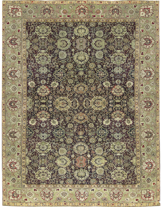 Antique Indian Agra Rug Circa 1880