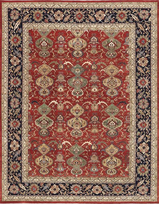 Signature Sultanabad N-253 farhan Red Black