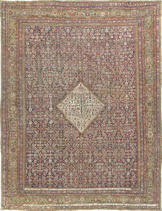 Antique Persian Fereghan.Rug Circa 1890