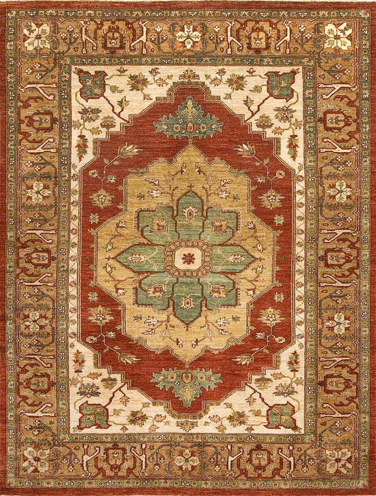 Sultanabad Collection.Red/Brown