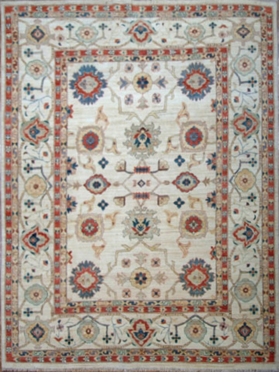 Sultanabad.Ivory/Red