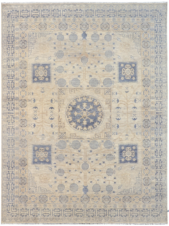 Turkestan  Saka  Ivory / Blue