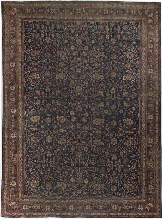 Antique Persian.Kashan Rug Circa 1900