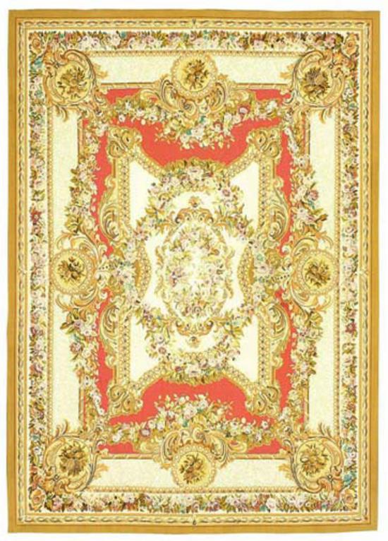Renaissance Aubusson.Ivory/Rose
