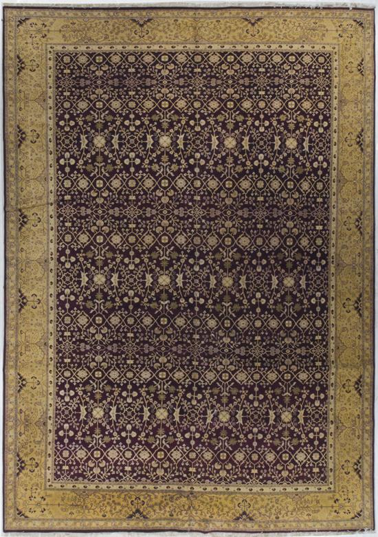 Antique Agra Rug Circa 1900