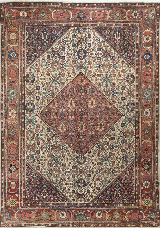 Antique Persian Sultanabad Rug Circa 1890