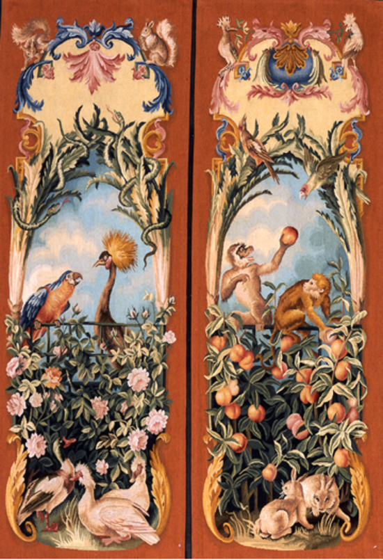 A pair of Tapestry panels