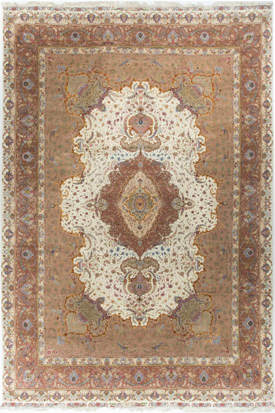 Vintage Fine Persian Tabriz,Rug Circa 1980.