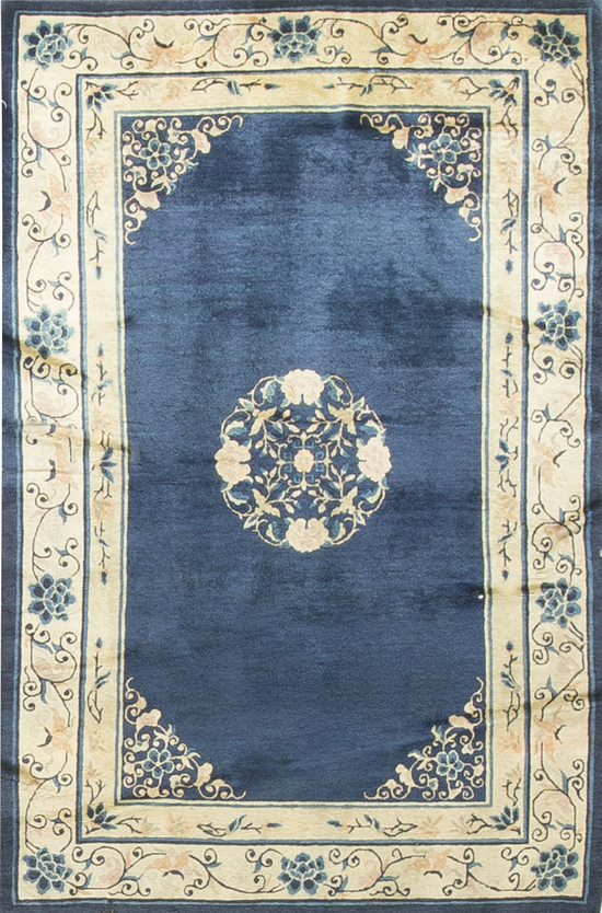 Antique Chinese Peking Rug Circa 1880