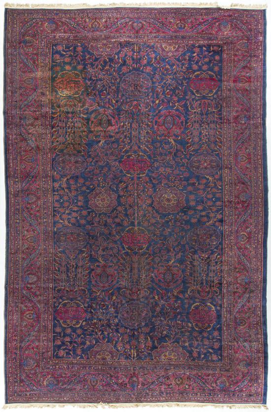Antique Persian Kashan.Rug Circa 1890