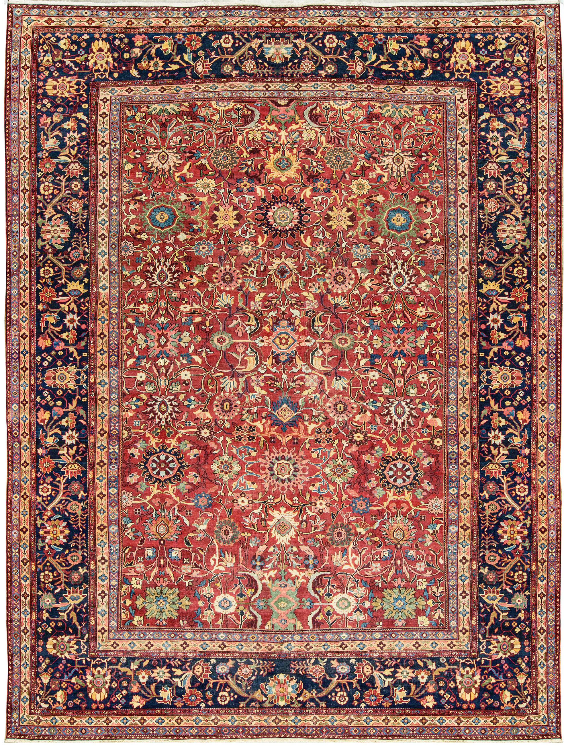 Antique Persian Sultanabad Rug Circa 1900 Tap To Expand