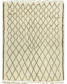 Moroccan Collection Taza 101 Ivory Brown