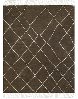 Moroccan Collection Taza 110 Brown Ivory