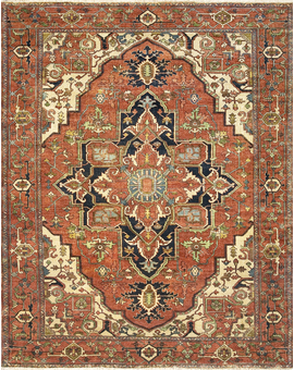 Antique Serapi Heriz-6 Red