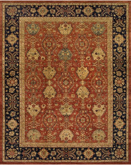 Sultanabad Collection Jh-2 con Red Blue