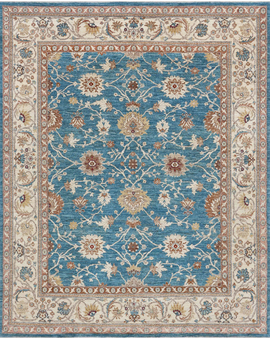 Sultanabad Collection N-219 con Light Blue Cream