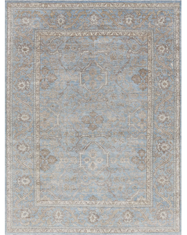 Sultanabad Collection N-319 Light Blue Light Blue
