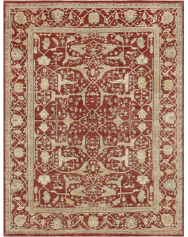 Sultanabad Collection N-330 Red Red