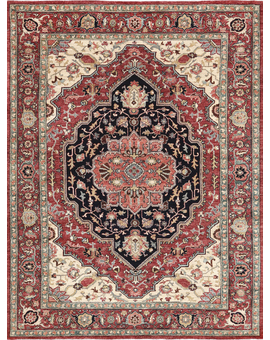 Sultanabad Collection N-362 Red Red