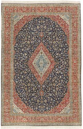 Vintage Fine Persian Kashan Rug Circa 1940.