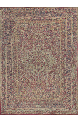 Antique Persian Lavar Kirman Rug Circa 1880.