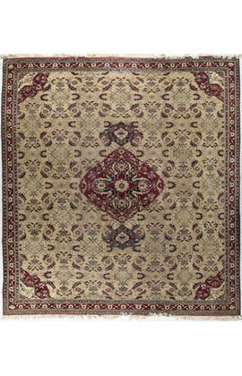 Antique Agra Rug Circa 1880.