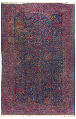 Antique Persian Kashan.Rug Circa 1890